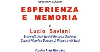 """Prof. Lucio Saviani – Incontro """"Esperienza e Memoria"""" Caserta 23 febbraio 2017"""