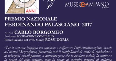 """CAPUA. Carlo Borgomeo riceve nel Museo Campano il premio nazionale """"Ferdinando Palasciano"""""""