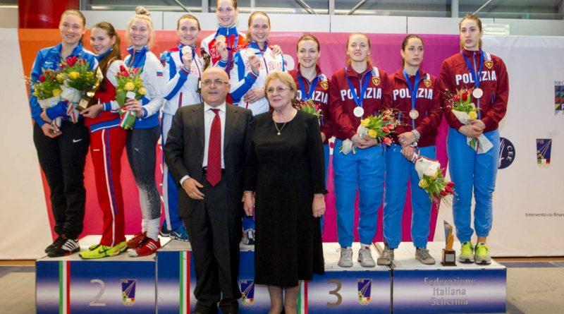 Risultati immagini per FINALE SCHERMA 2018 CASERTA IL TEAM RUSSIA