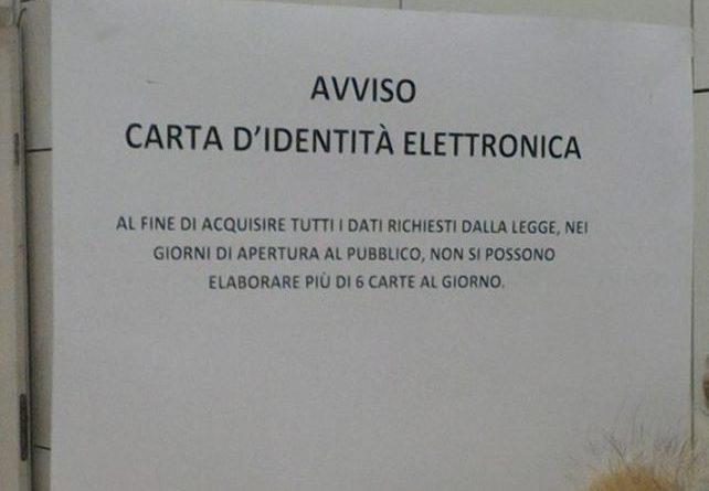 Ufficio Per Carta D Identità : Agrigento novità sul rilascio della carta d identità elettronica