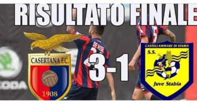 Rimonta allo Stadio Pinto. La Casertana batte la Juve Stabia 3 – 1