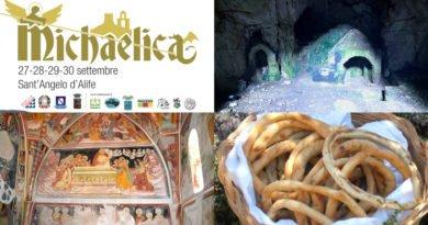 A Sant'Angelo d'Alife l'ultimo weekend di settembre è con MICHAELICA: itinerari, degustazioni, musica, lungo i cammini  della devozione di San Michele