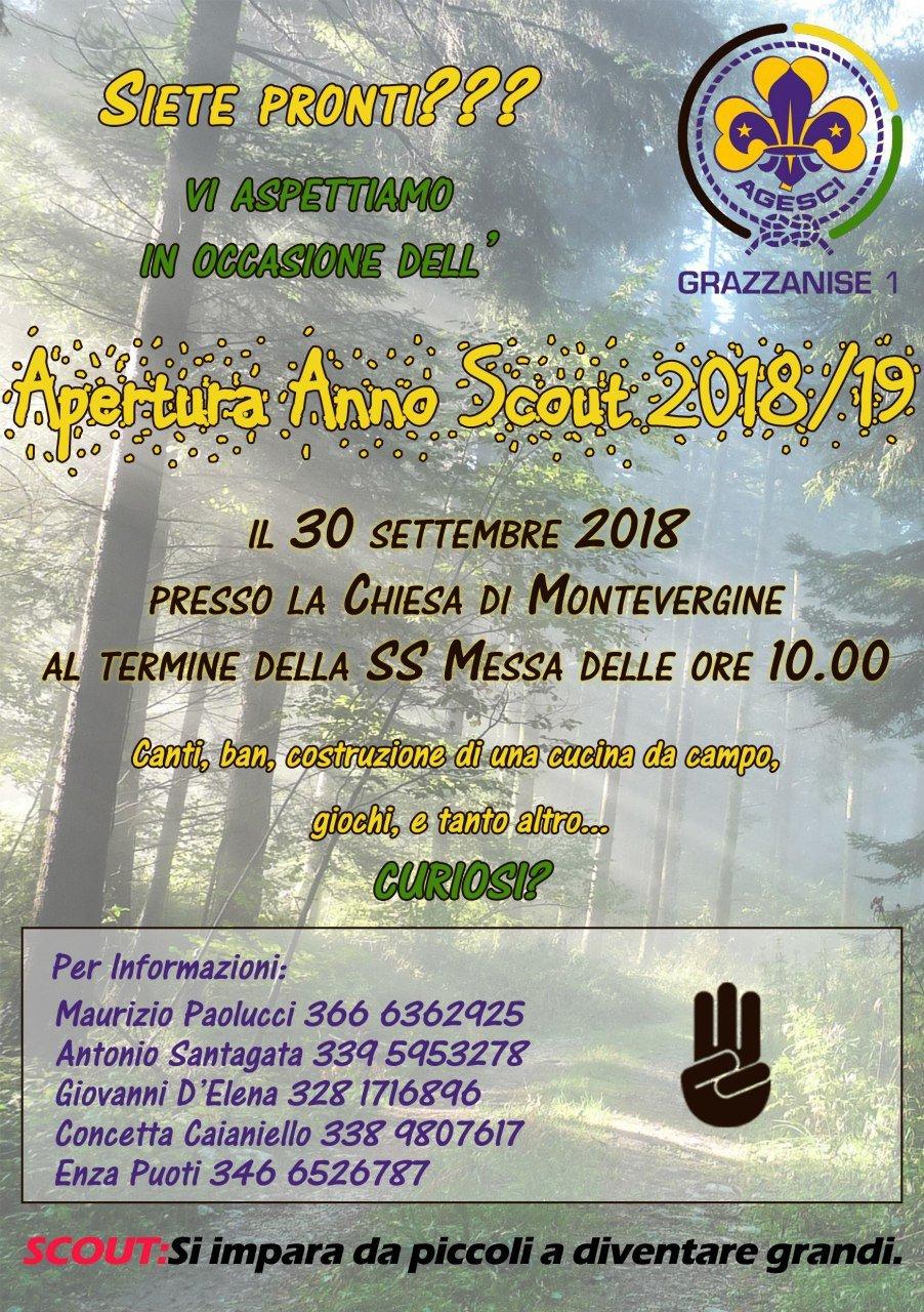 Grazzanise Lagesci Pronta Per Lapertura Dellanno Scout 2018 2019