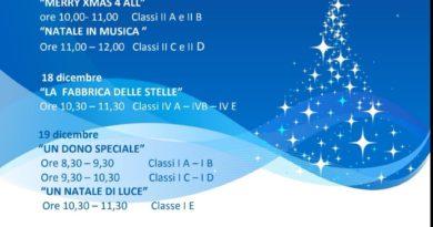 """CASERTA. L'Istituto comprensivo """"Ruggiero – 3° Circolo"""" organizza gli eventi natalizi dal 17 al 21 dicembre 2018"""