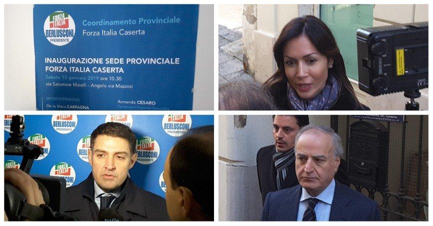 """FORZA ITALIA CASERTA, INAUGURATA LA SEDE PROVINCIALE IN VIA MAIELLI: """"PROVE TECNICHE PER UN CENTRODESTRA UNITO"""""""