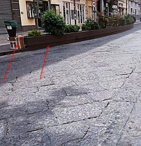 CORSO TRIESTE CASERTA - ALESSANDRO FEDELE --min - Rimosse a Caserta le pedane di Corso Trieste