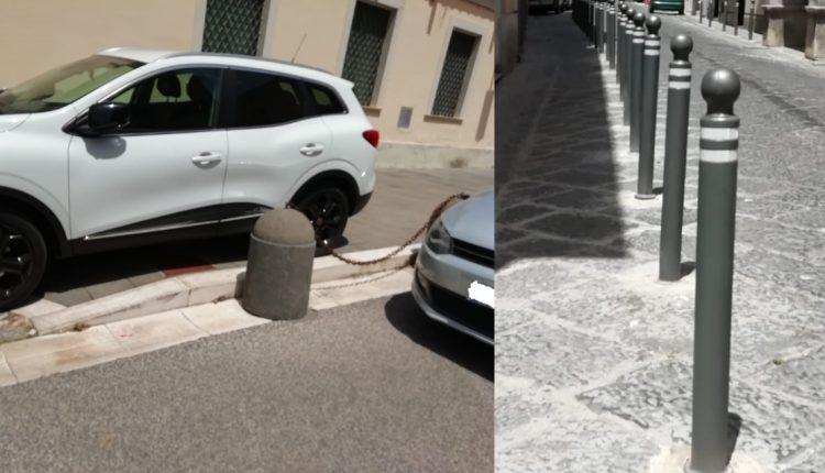 I paletti non bastano a fermare la pericolosa sosta selvaggia a Caserta - di Alessandro Fedele