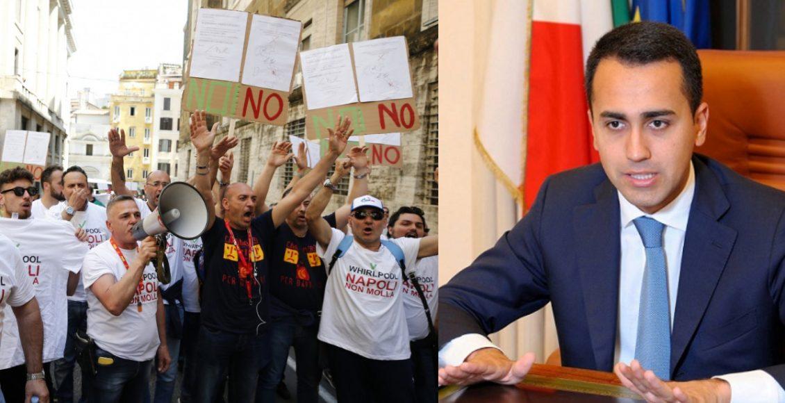 Lavoratori Whirlpool scendono ancora in strada, Di Maio blocca gli incentivi - di Alessandro Fedele