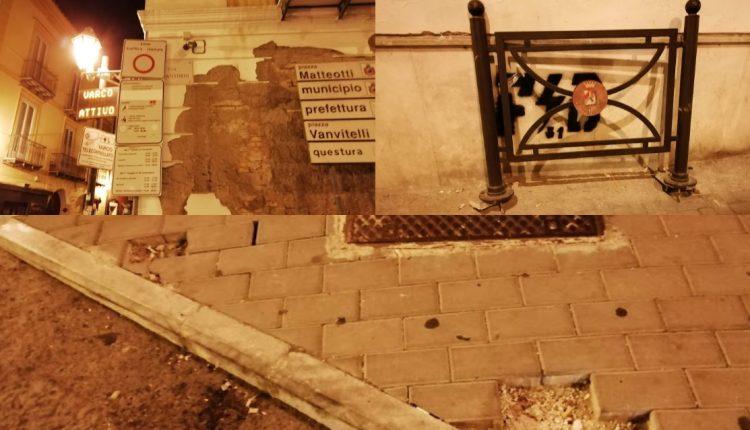 A Caserta strade distrutte e degradate