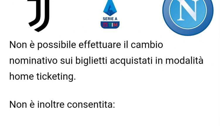 Juventus-Napoli, tariffe speciali per i Member: i dettagli