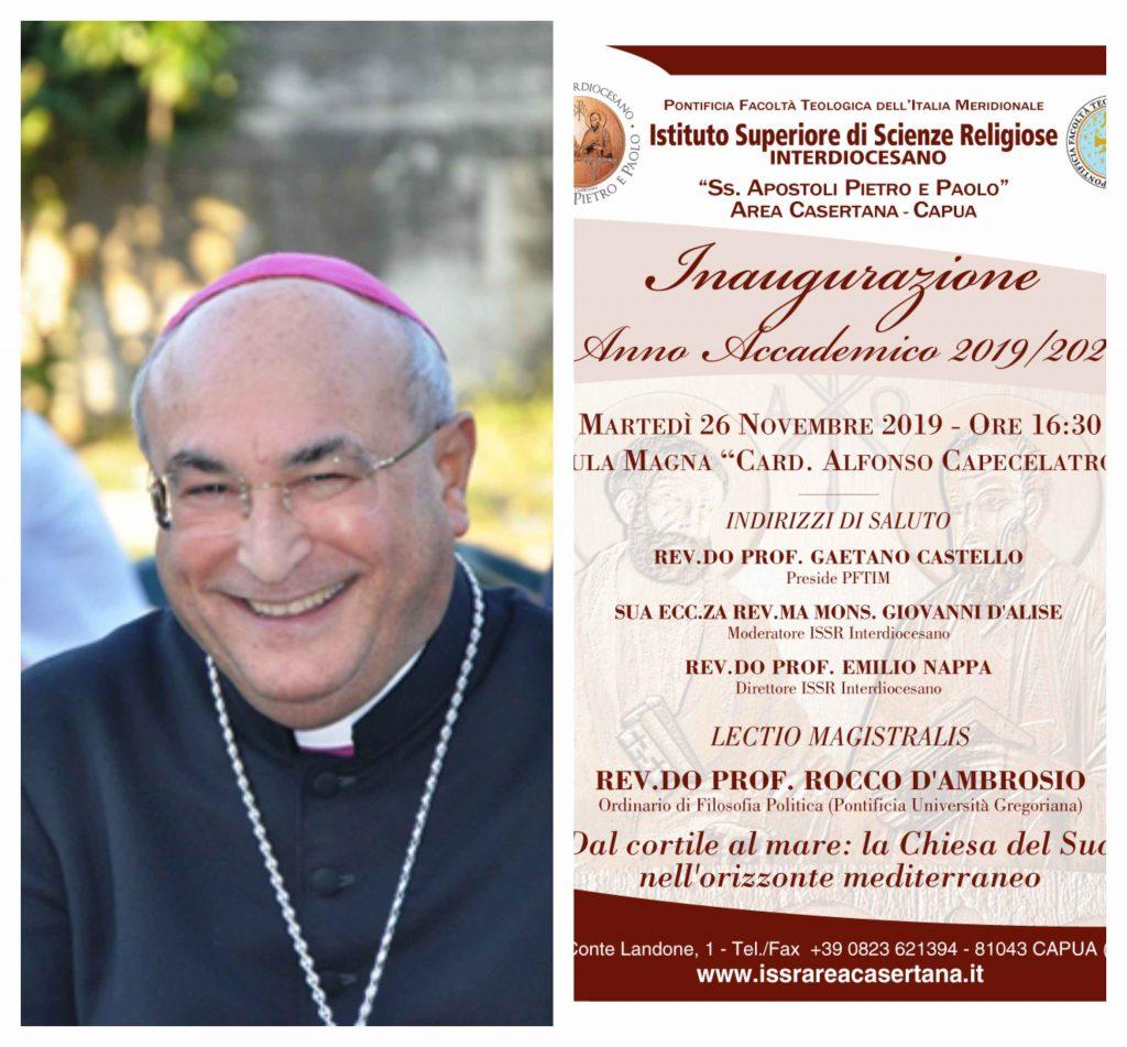 """Capua. I Vescovi inaugurano l'Anno Accademico dell Issr Interdiocesano """" """"Ss. Apostoli Pietro e Paolo"""" - BelvedereNews"""