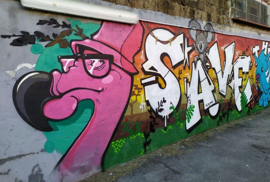 Risultati immagini per murale a villa giaquinto